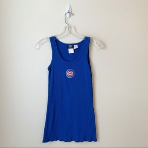 EUC - Chicago Cubs - Blue Stretch Ribbed Tank - L